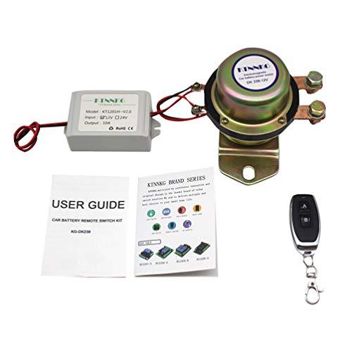 Wakauto Interruptor de desconexión de la batería del mando a distancia cortado 12 V coche coche interruptor de desconexión electromagnético