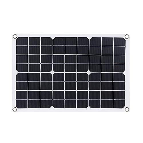 Mogzank Panel Solar Flexible de 23W 18V / 5V para BateríA de Coche de 12V Cargador Solar de Salida Dual USB + DC5521 para Exteriores
