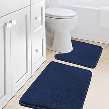Best blue bath rug sets Reviews
