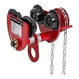 Steinberg Carro Para Polipasto Systems Tren De Rodaje Manual SBS-RT-1000 (Capacidad de carga 1000 kg, Con cadena, Ajuste de ancho de 77-133 mm)