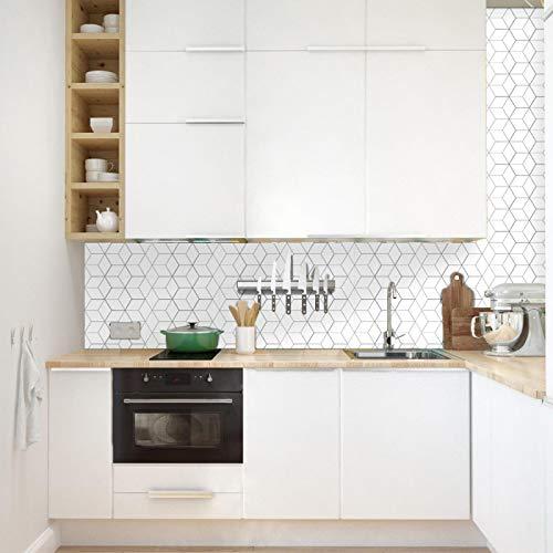 ivAZW Etiqueta engomada del azulejo de la Cocina Backsplash Etiqueta de la Pared Azulejos autoadhesivos baño Impermeable DIY decoración del hogar 20 Piezas (2 Juegos) 15 cm