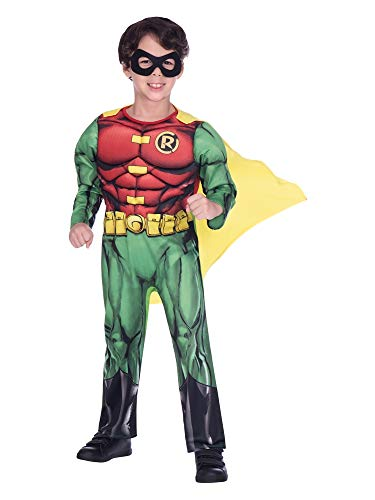 BOYS SUPERHERO COSTUME - CLASSIC ROBIN - SMALL (4 - 6 YEARS)