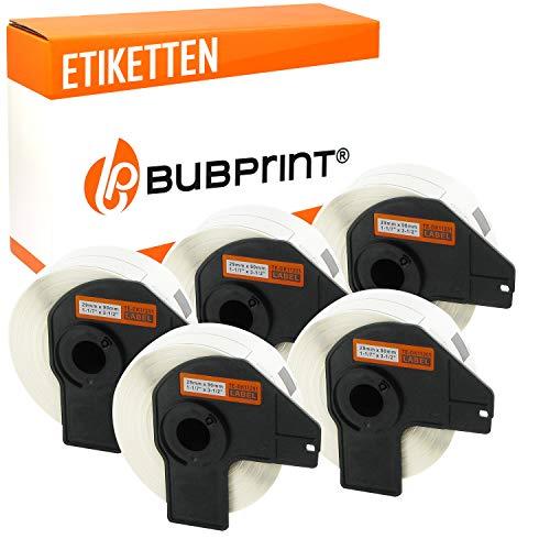Bubprint 5 Etiketten kompatibel für Brother DK-11201 DK 11201 für P-Touch QL1050 QL1060N QL500BW QL550 QL560 QL570 QL580N QL700 QL710W QL720NW QL810W
