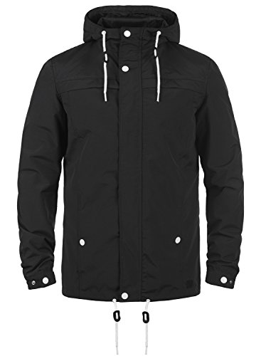 Redefined Rebel Maddox Herren Übergangsjacke Herrenjacke Jacke mit Kapuze, Größe:L, Farbe:Black