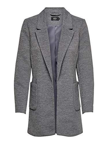 ONLY Damen Mantel onlStory Baker Blazer mit Stehkragen, Farbe:Grau, Größe:XS
