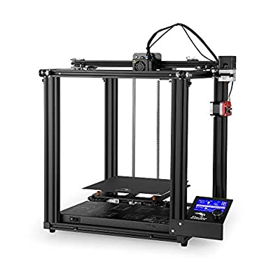 Creality Ender 5 Pro 3D Printer with Mute Mainboard, Capricorn Bowden PTFE Tube, Used for DIY Enthusiasts, Toys Making, Manual Printing, Industrial, 220x220x300mm