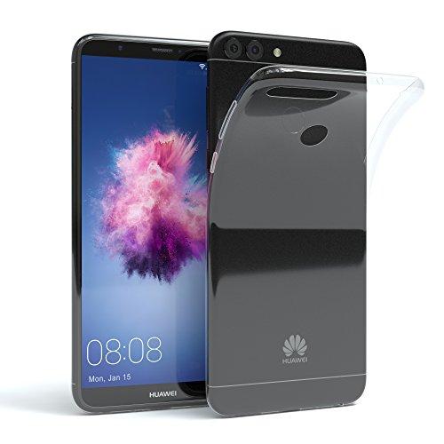 EAZY CASE Hülle kompatibel mit Huawei P Smart (2018) Schutzhülle Silikon, Ultra dünn, Slimcover, Handyhülle, Silikonhülle, Backcover, Durchsichtig, Klar Transparent