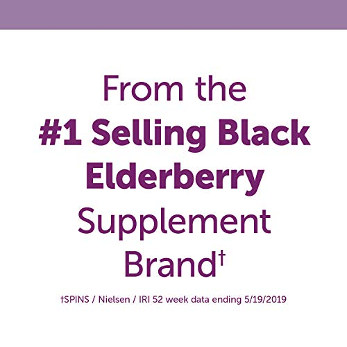 Nature's Way Sambucus Elderberry Kids Chewable with Vitamin A, Vitamin C, Zinc, 40 Tablets