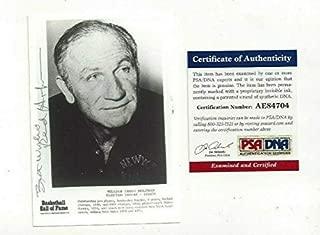 Red Holzman Autographed Signed Memorabilia 3X5 Photo New York Knicks Basketball HOFer COAch PSA/DNA