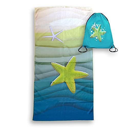 Serviette de plage en microfibre anti-sable, pour homme, femme, 160 x 76 cm, fine serviette de...