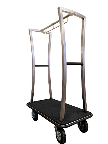 Monarch Carts Stainless Steel Hotel Luggage Cart MCL210S
