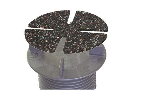 Garwelt Riegelsberger Verstelbare platenlager met valvereffening terraslager stelvoet Basic voor terrasplaten keramiek steen beton tegels 1 doos (134 stuks) in hoogte verstelbaar 18-25 mm Auflagepad 3 mm