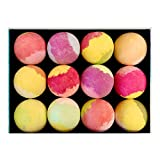 Bath Bombs Gift Set Makes a Great Gift for Women, Men, and Kids - 12 Large Individually Wrapped Natural Bath Bombs That Won't Stain Your Bath Tub - Provides a Relaxing Bath Bomb Spa Experience