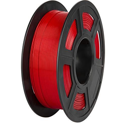 PLA Filament, PRINSFIL Filament 1,75 mm PLA für FDM 3D Drucker, 3D Druckmaterialien 1 kg 1 Spool, Dark red
