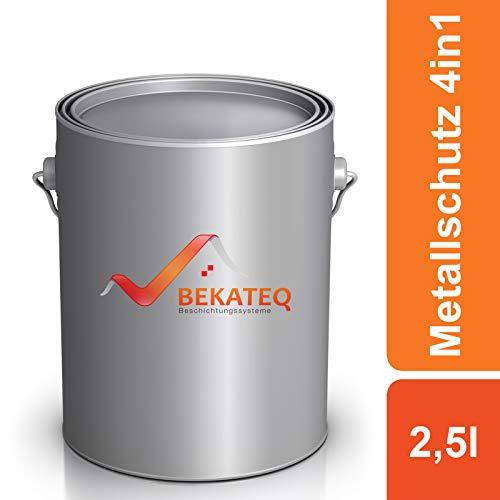 BEKATEQ Metallschutzlack LS-570 4in1- RAL3000 Feuerrot - 2,5L
