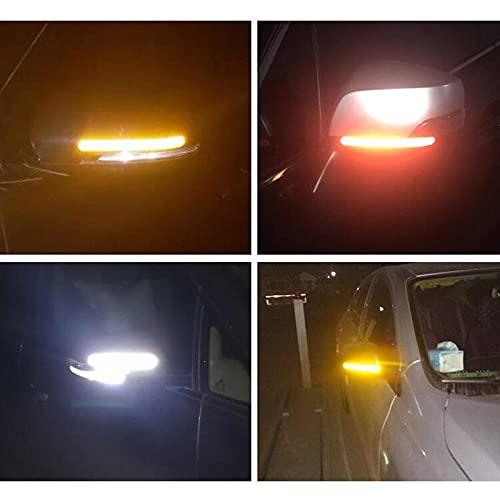 UTOBY Pegatina para espejo retrovisor de coche, con tiras reflectantes, para decoración de espejo de coche, resistente al agua, para espejo lateral de coche