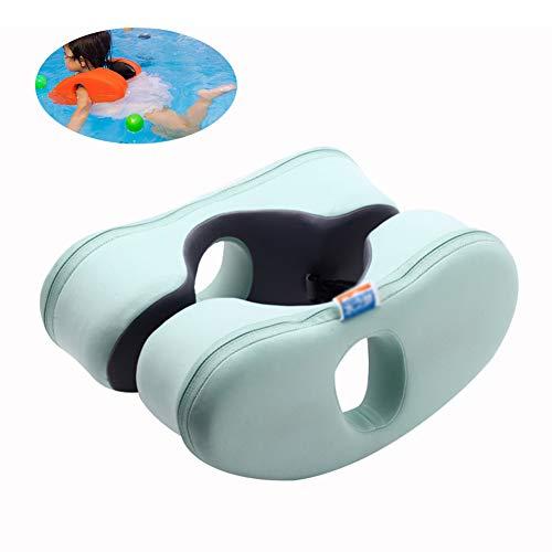 MAGICE Schwimmring Baby Hals Baby Float, Solide Baby Schwimmbad schwimmt, Nicht aufblasbarer Schwimmtrainer für Kinder, Kinder Achsel Arm Float Kreis von 3-6 Jahre alt,Green