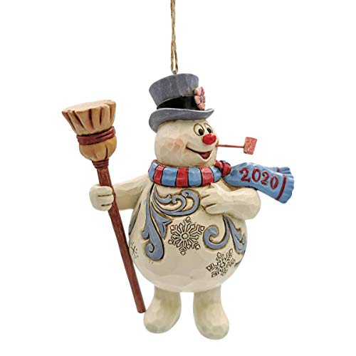 Enesco 2020 Jim Shore Frosty The Snowman with Broom Dated Ornament 6007345