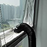 NO LOGO LIU-Shun-BAO 4m Air Lock Fensterdichtungs-Stoff-Plattendichtung for Mobile Klimaanlagen Klimaanlagen Wasserdichtes, weiches Zuhause Flexibel