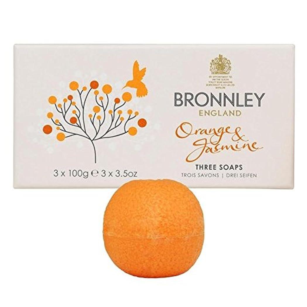 説明引き出し円形Bronnley Orange & Jasmine Soaps 3 x 100g (Pack of 6) - オレンジ&ジャスミン石鹸3×100グラム x6 [並行輸入品]