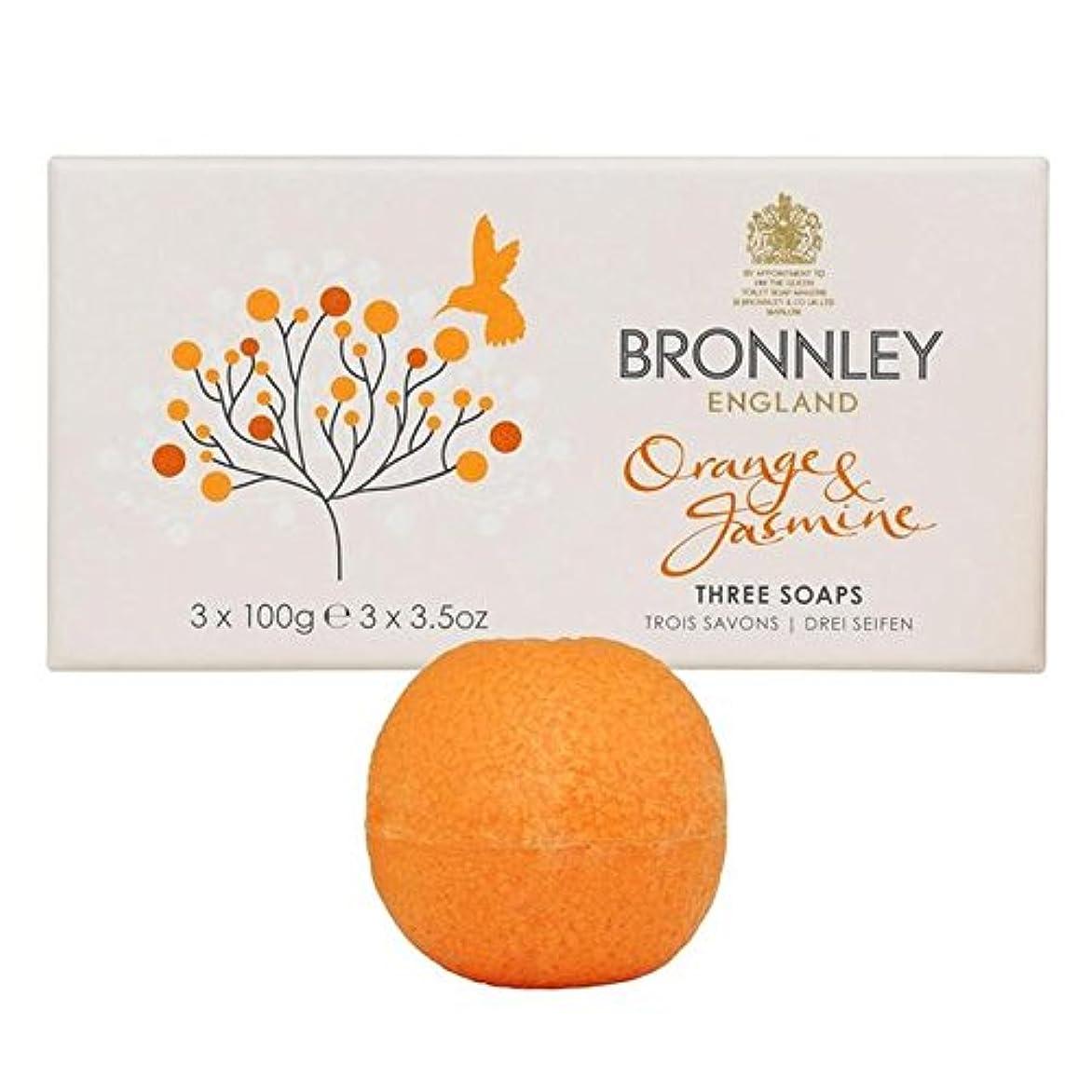 津波警報パプアニューギニアオレンジ&ジャスミン石鹸3×100グラム x4 - Bronnley Orange & Jasmine Soaps 3 x 100g (Pack of 4) [並行輸入品]