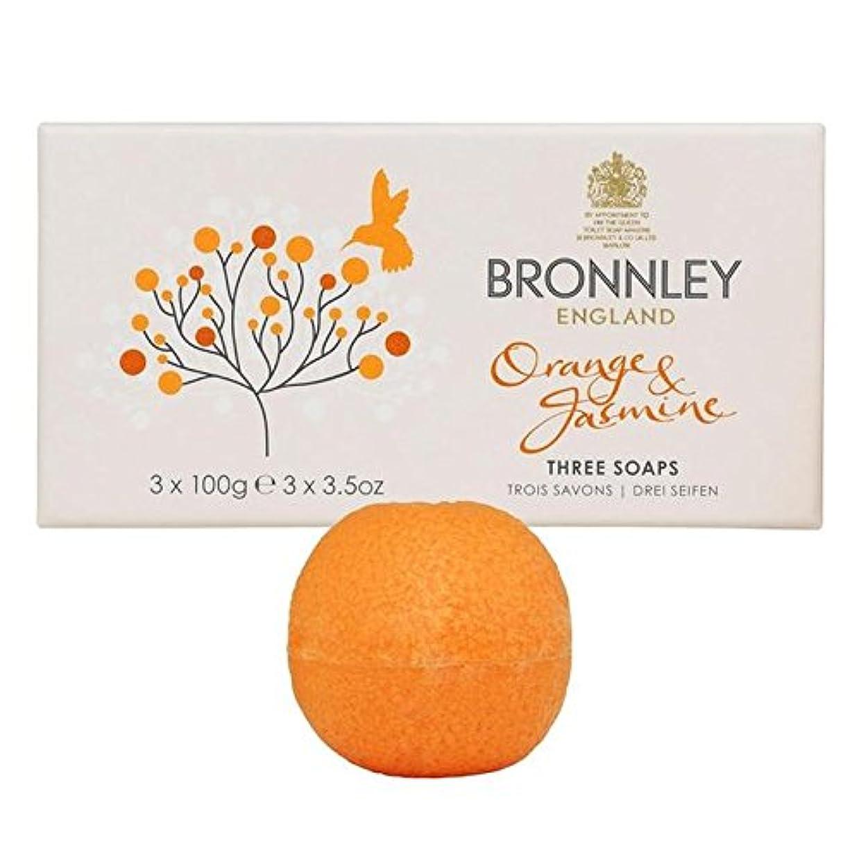健康的パス計算するBronnley Orange & Jasmine Soaps 3 x 100g (Pack of 6) - オレンジ&ジャスミン石鹸3×100グラム x6 [並行輸入品]