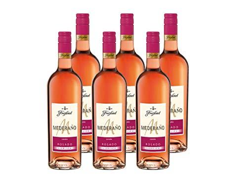 Mederano Rosado lieblich Wein l Cuvee l lieblich l sommerlich leicht l gekühlt genießen, 6 x 0.75 L