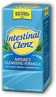 Natural Balance Intestinal Clenz | Psyllium Herbal Cleansing Formula | Healthy Digestion & Regularity Supplement | Gluten ...