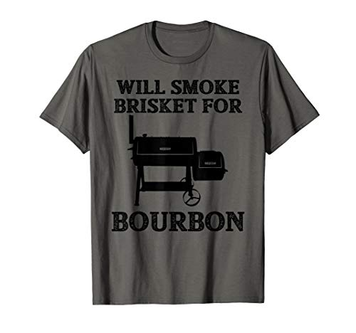Will Smoke Brisket Bourbon Lover T-shirt Grill Cooking Gift T-Shirt