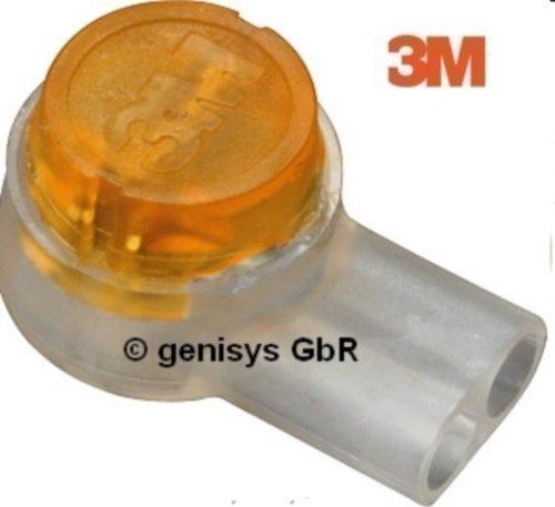 Original 3M Scotchlok Einzeladerverbinder UY2, 100 Stück, Fettfüllung, max. Durchmesser 2,08mm, Drahtstärke: 0,4-0,9 mm