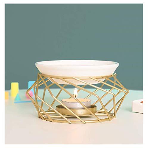 YiYiLai Warmself Golden Essential Tealight Oil Burner Ceramic and Iron...