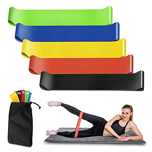 Resistance Bands Set 3 Pack Latex Elastic Bands 1.5M 1.8M 2.0M with Three Resistant Levels Skin-Friendly Upper & Lower Body Exercise Home Workout, Physical Therapy, Yoga, Pilates, Strength Training