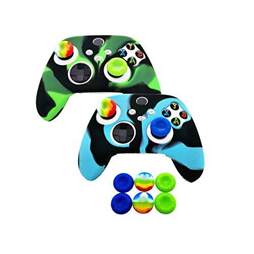 2 x Silikon-Schutzhülle für Xbox Series X/S Controller, Gummi-Schutz für Xbox Series X/S (6 x Daumen-Joystick-Griffe) (Serie X/S-5)