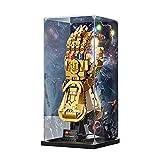 icuanuty Vitrina de Acrílico para Lego 76191 Marvel Guantelete del Infinito, Display Case Vitrinas para Colecciones Modelismo (Solo Vitrina)