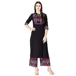 Khushal K Womens Rayon Solid Kurta With Palazzo Set