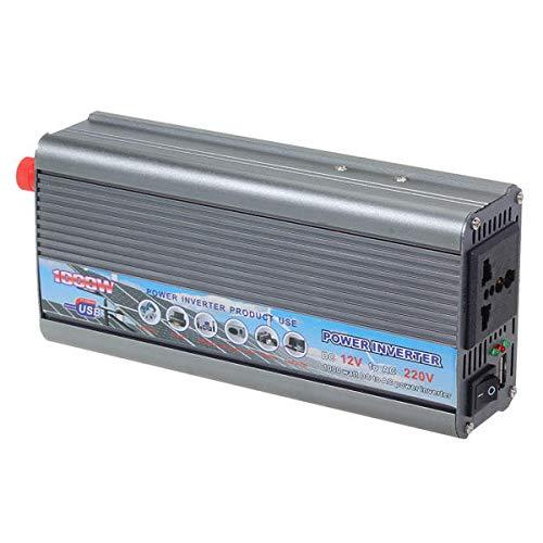 WZhen 1000 W coche 12 V a 220 V inversor de corriente convertidor de coche