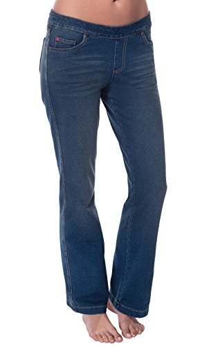 PajamaJeans Jeans for Petite Women - Pull On Jeans Petite, Vintage, L