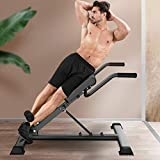 Boddenly Adjustable Roman Chair Back Hyperextension Bench For Strengthening Abs/Home Fitness 107x47x96cm /42.1x18.5x37.8 in