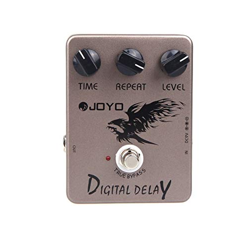 Nukana Guitarra JOYO JF-08 Efecto Digital Delay Pedal True Bypass