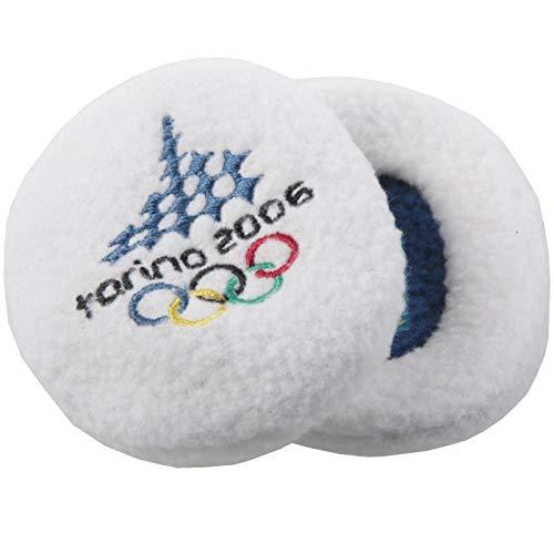 Earbags Olympische Spiele Ohrenwärmer Mütze Warm Torino 2006 Vancouver 2010 Ohren Stirnband, EBOS0610, Farbe Torino 2006 Weiß, Größe M
