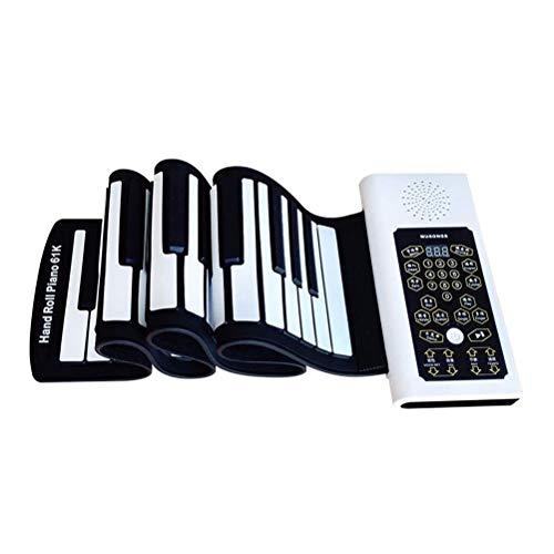 QXF-D Roll Up-Klavier-Tastatur, 88 Tasten Anfänger Elektronische Orgel Sustain Pedal Mikrofon Silikon-weiches Piano Lernspielzeug