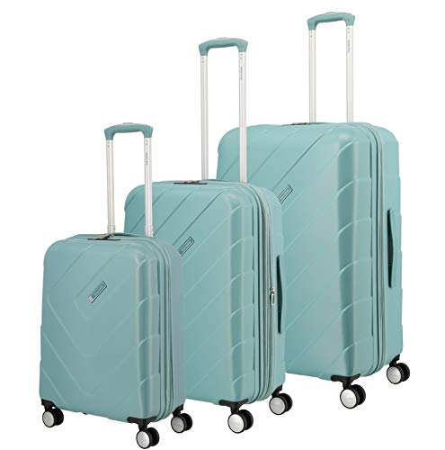 """Travelite Hartschalen-Koffer-Serie """"KALISTO"""" von travelite in 4 Farben: topmodisch, elegant, robust, 76 cm, 216L, Aqua"""