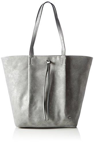 Tom Tailor Acc Damen Abbie Schultertasche, Grau (grey 01), 11 x 32 x 39 cm