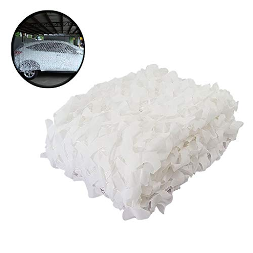 Camo Net Fabric, Camouflagenetten for Auto Witte Shading Net Lichtgewicht Military Camping Verbergen Schieten Jacht Waterproof Hekken Fotografie Slaapkamer 2x3 4x5 (Size : 5 * 5m(16.5 * 16.5ft))