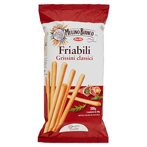 Mulino Bianco Grissini Classici Friabili, Snack Salato per la Merenda- 300 g