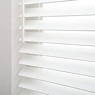 """Bravada Select, Cordless Superior 2"""" Faux Wood Blinds (Pure White, 34"""" Wide x 36"""" Length)"""