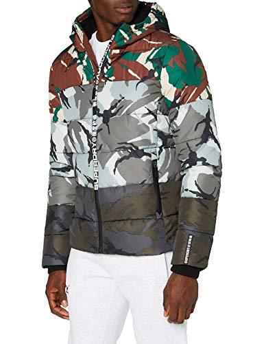 Superdry Mens CAMO Mix Sports Puffer Jacket, 3XL