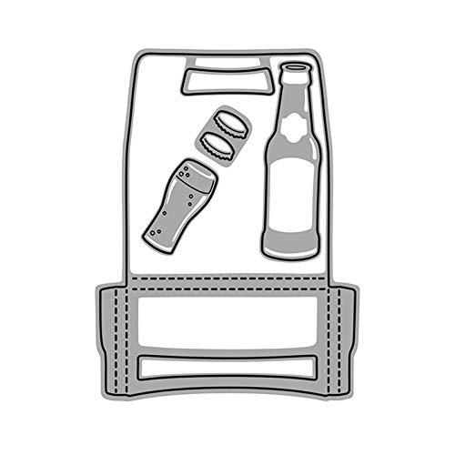 Scrapbooking Embossing Cutting Die,Botella Carta Scrapbook DIY Acero al Carbono Corte Die Craft Mold Scrapbook Molde - Plata