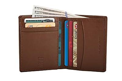 Nappa Leather Slim RFID Blocking Multi Slot Card Wallet/Passcase for Men - Milk Brown