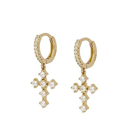 XQAQW Pendientes de Cobre para Las Mujeres joyería Simple Color Oro Vintage colgante-22